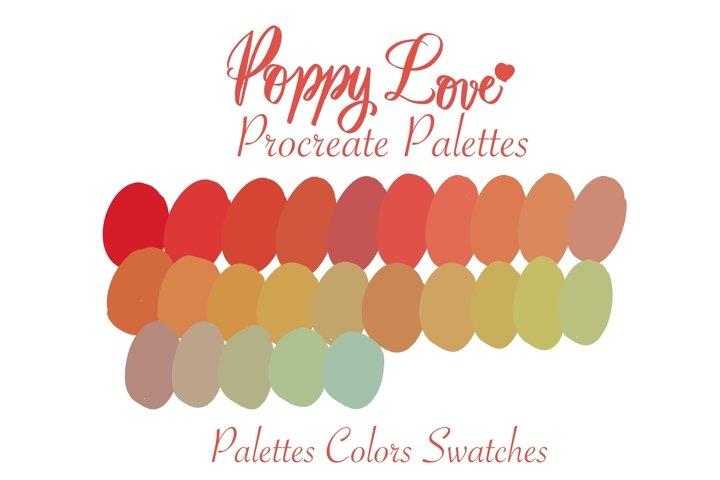 Poppy love Procreate palette colors