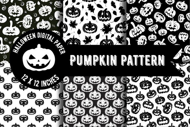 Pumpkin pattern.Halloween Paper,Pumpkin wallpaper PNG.Vector