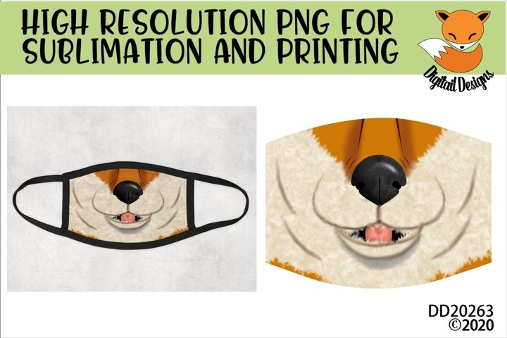 Fox Mouth Face Sublimation Design For Masks