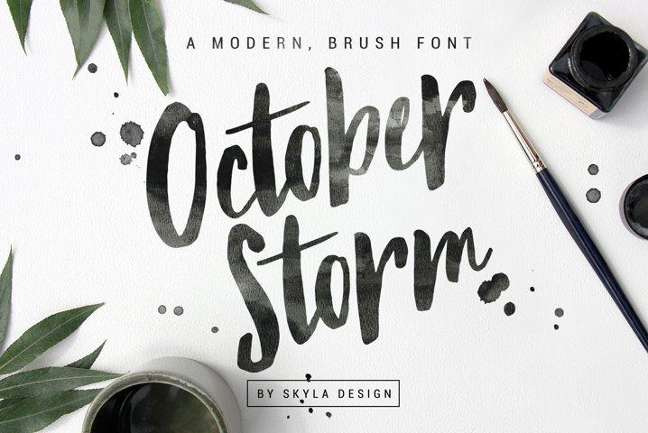 Modern brush font - October Storm
