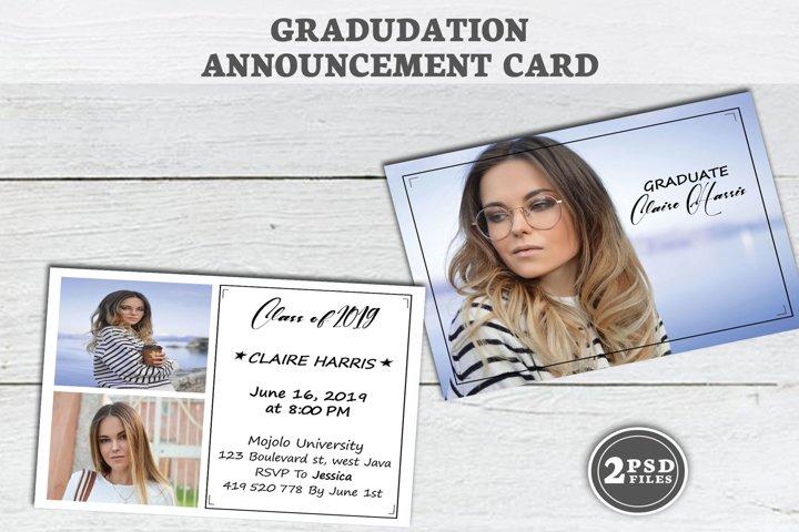 Graduation Announcement Template, annonce Senior carte,