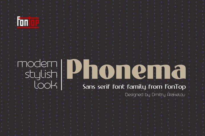 PHONEMA font family