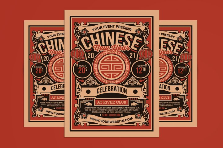 Chinese New Year 2021 Celebration Flyer