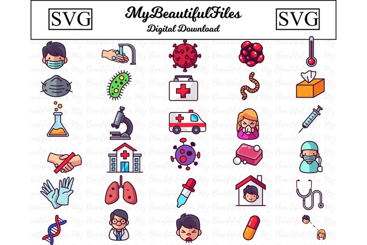 Medical SVG - Medical Health SVG Bundle