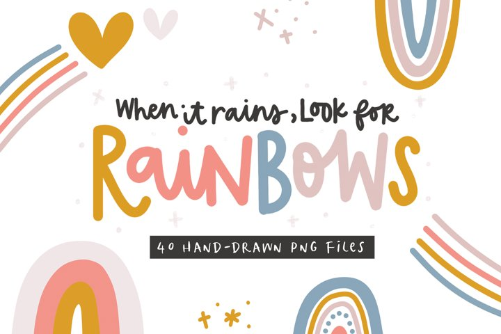 Rainbows - Clip Art Collection