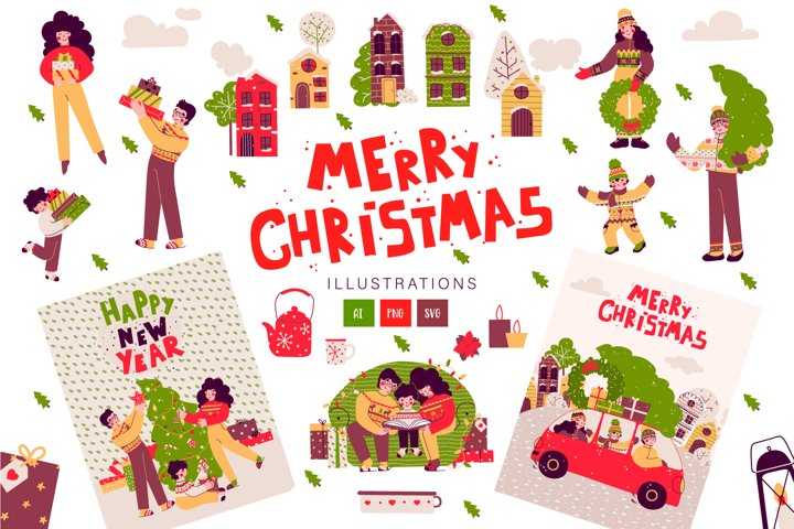 Merry Christmas - family cards