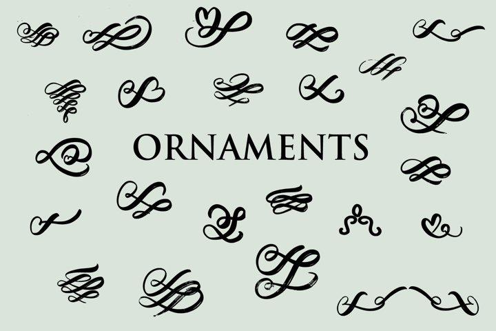 ornaments swirl dingbats