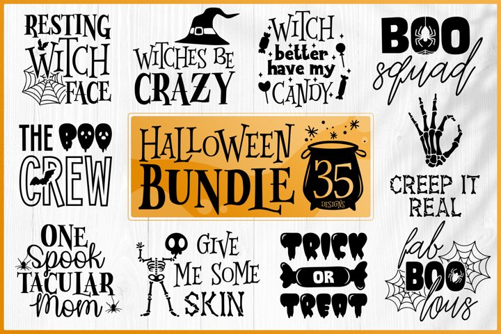 Halloween Bundle SVG - Halloween Quotes Bundle SVG