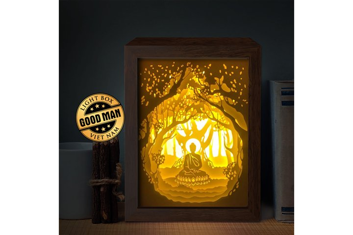 BUDHA 1 3D Paper Cutting Light Box - Shadow Box