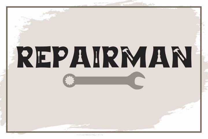 Repairman - a Fun Tool Font