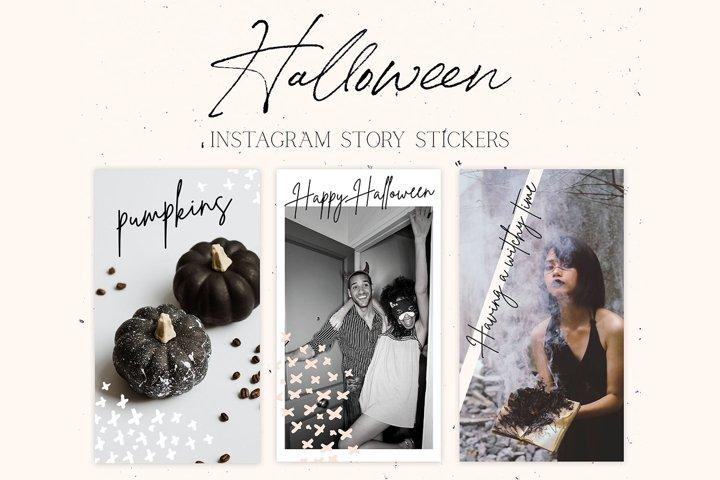 Halloween Instagram Story Stickers