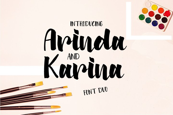Arinda and Karina | Font Duo