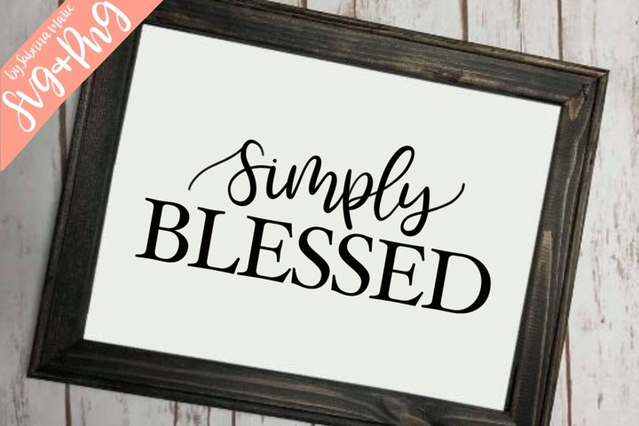 Simply Blessed - Handlettered SVG & PNG Design