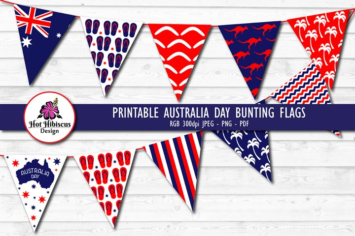 Printable Australia Day Bunting Flags