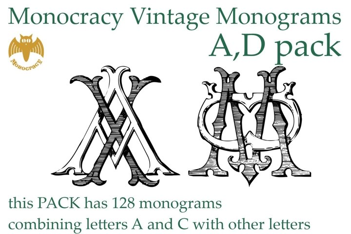 Monocracy Vintage Monograms Pack DA
