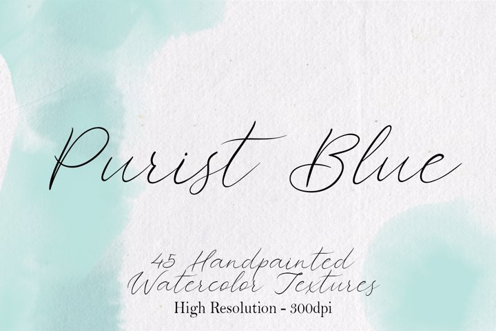 Purist Blue - 45 Watercolor Textures