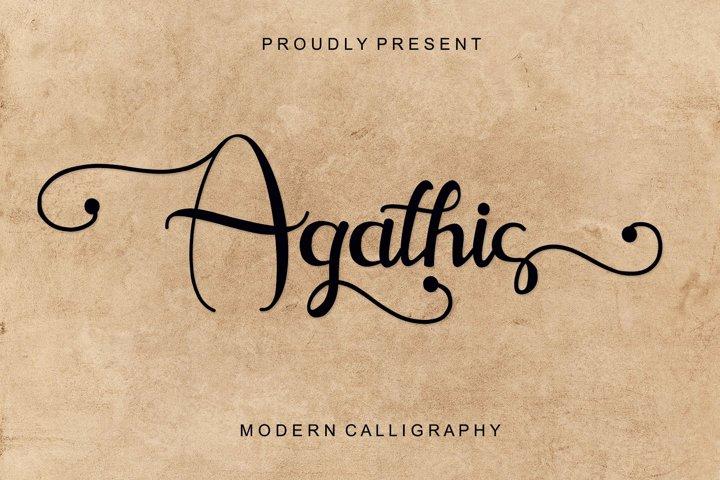 Agathis - Modern Calligraphy