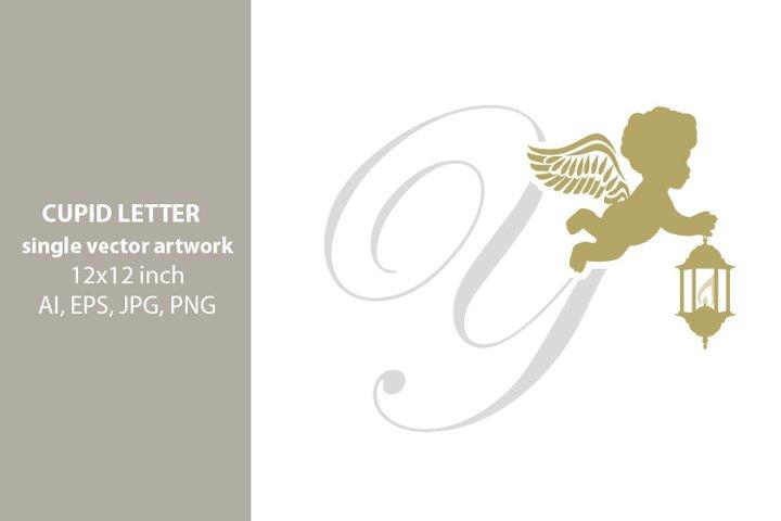 CUPID, monogram letter Y