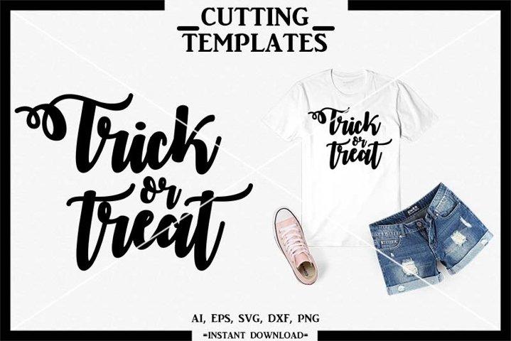 Trick or Treat, Halloween, Silhouette, Cricut, Cameo, SVG