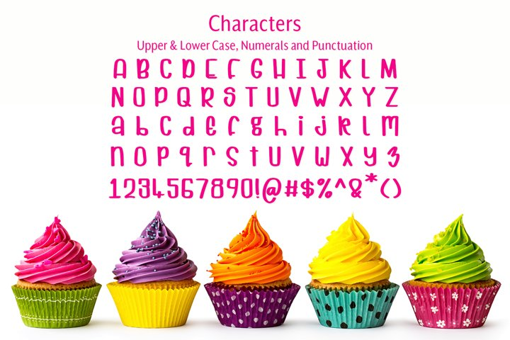 Cuppycake - an impossibly cute font - Free Font of The Week Design6