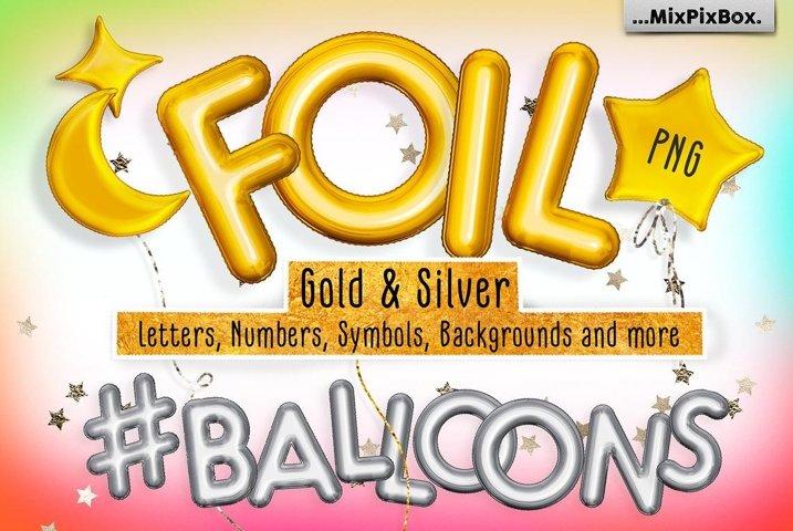 Foil Balloons Overlays