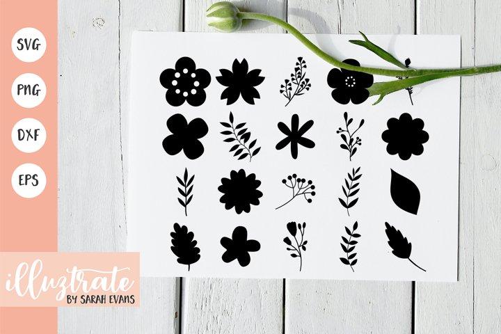 Flowers SVG Cut File | Vector Flowers | SVG Flower Clipart