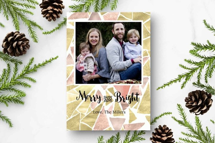 Merry and Bright Mosaic | Christmas Card template