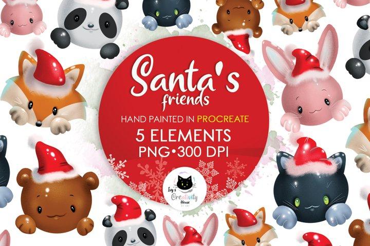 Cute Christmas Animals Sublimation Designs