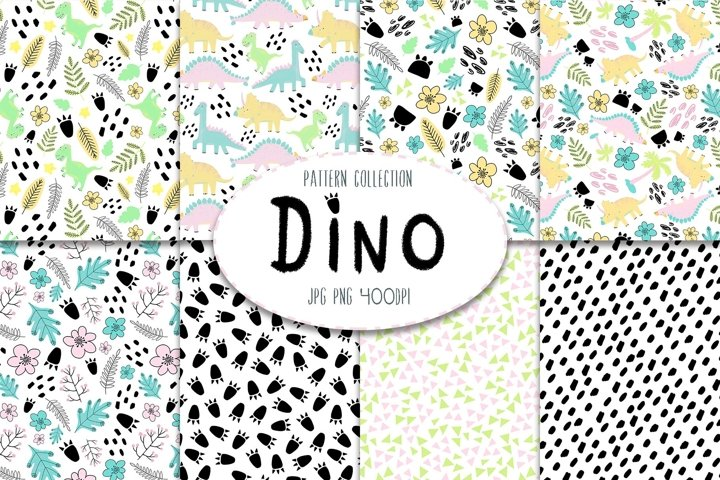 Dino digital pattern collection
