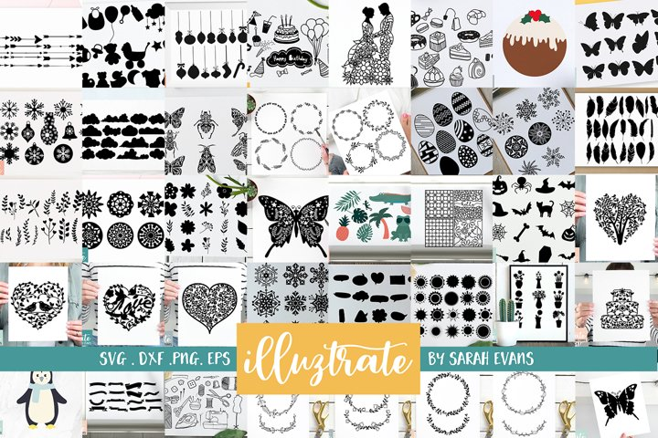 HUGE SVG Graphics Bundle - illustration SVG Cut Files