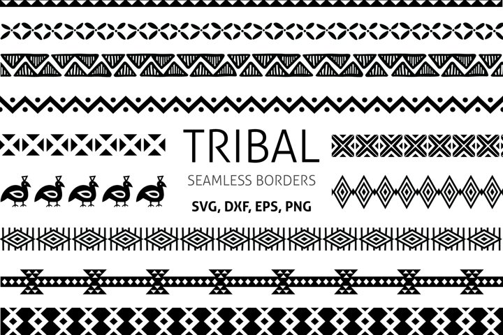Tribal African Border, seamless borders clipart, PNG