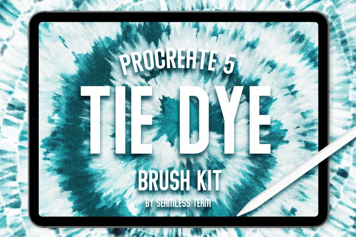 TIE DYE BRUSH KIT FOR PROCREATE 5