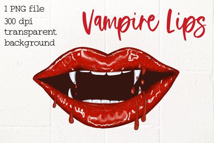 Lips Dripping, Vampire Lips