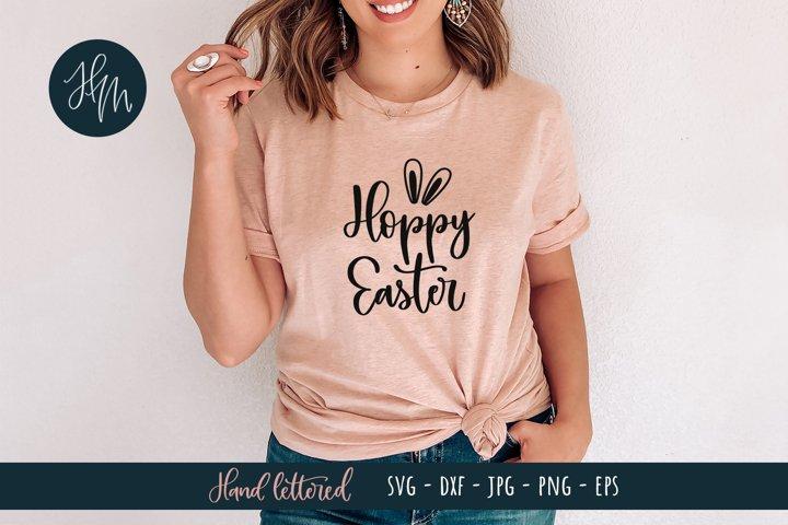 Hoppy Easter hand lettered SVG cut file
