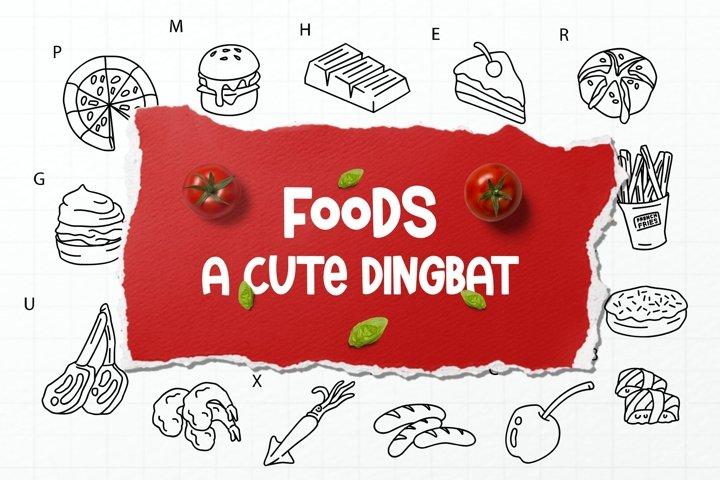 Food Dingbats Font