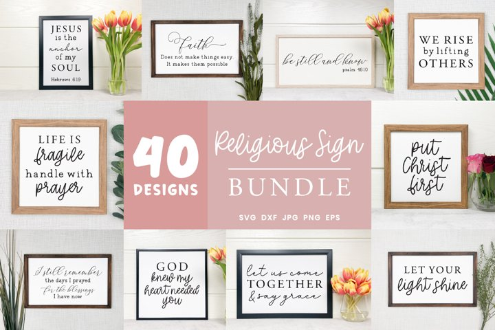 Religious Sign Bundle | Bible Verse Svg | Christian Svg