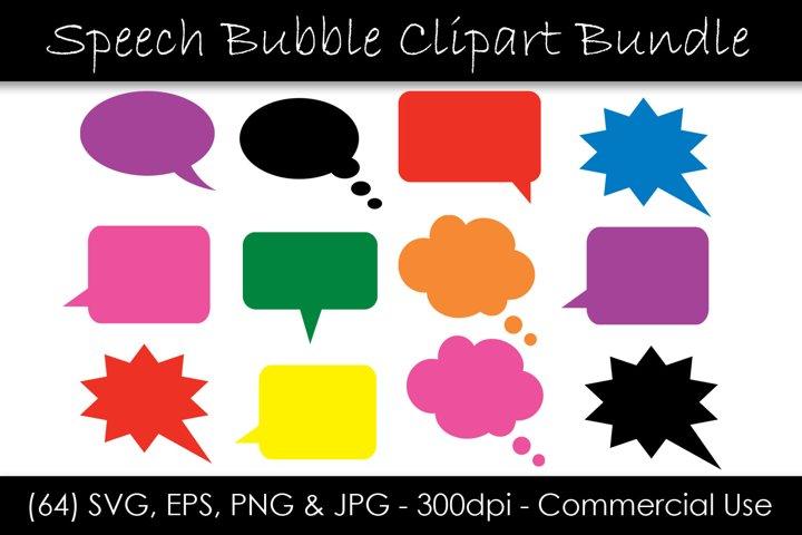 Solid Speech Bubble SVG Bundle - Comic Speech Bubble