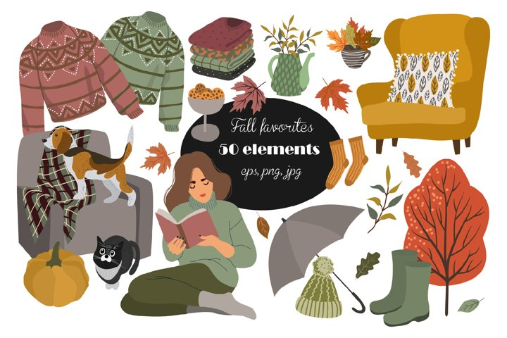 Fall Planner stickers Fall clipart png Fashion girl clipart