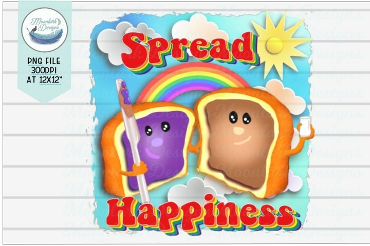 Spread Happiness, Inspirational PNG, Peanutbutter and Jelly