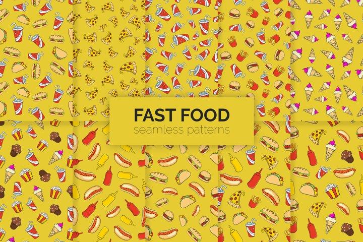 Fast Food Seamless Patterns
