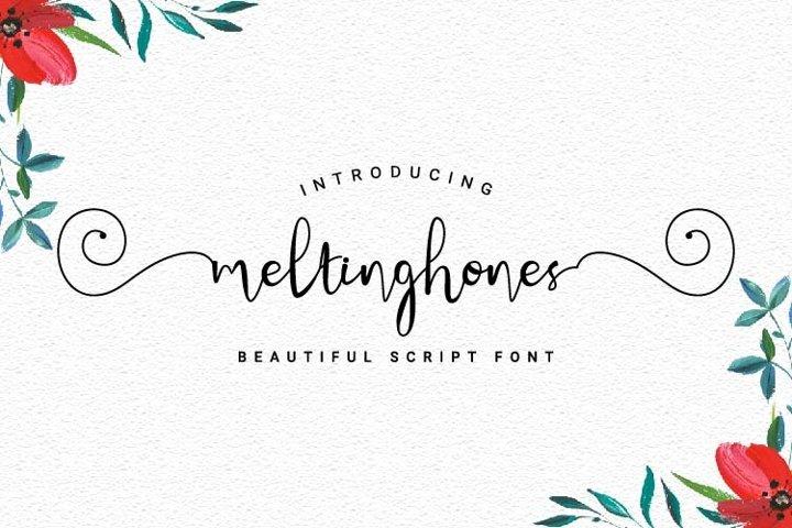 Meltinghones - Beautiful Script Font