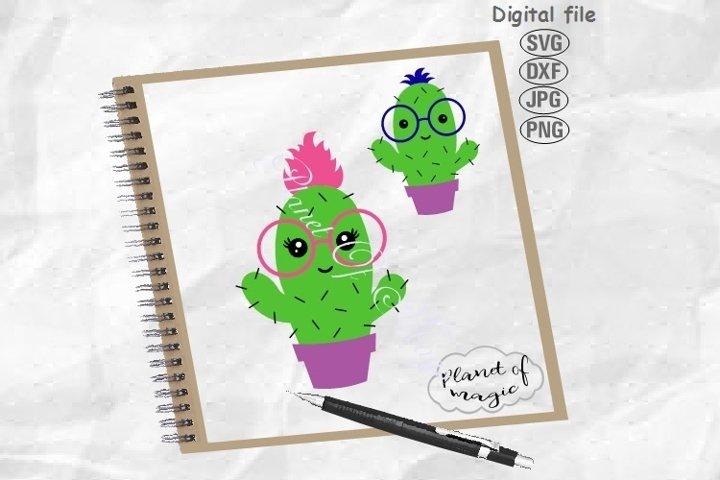 Cactus Svg, Cactus Glasses Svg, Cute Cactus Svg, Cactus Cut