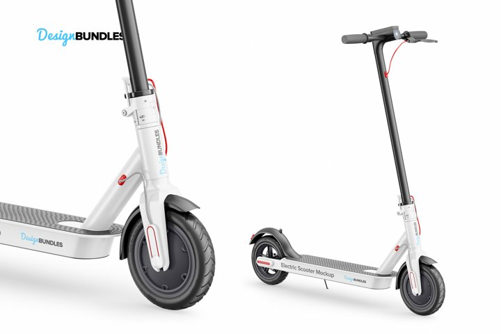 Electric Scooter Mockup example 5