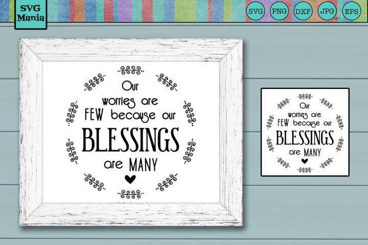 Round Blessings SVG File, Round Sign SVG, Inspirational SVG