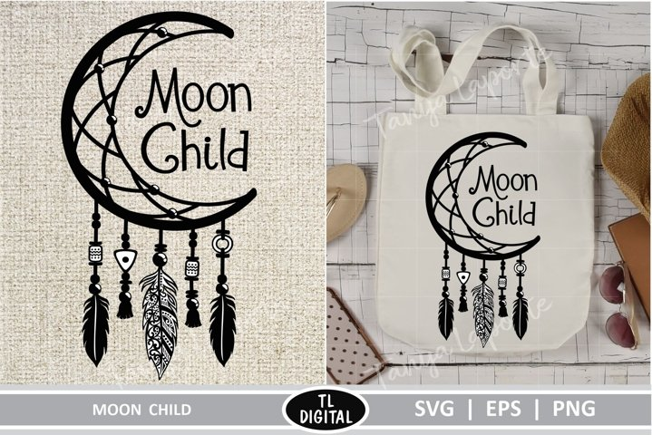 Moon Child - DreamCatcher - SVG|EPS|PNG