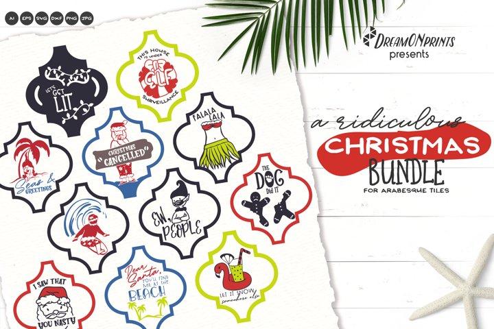 Arabesque Tile Ornament Bundle | Funny Christmas SVG Bundle