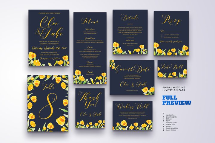 Wedding Invitation Suite Vol.2 / Save Date / Bride