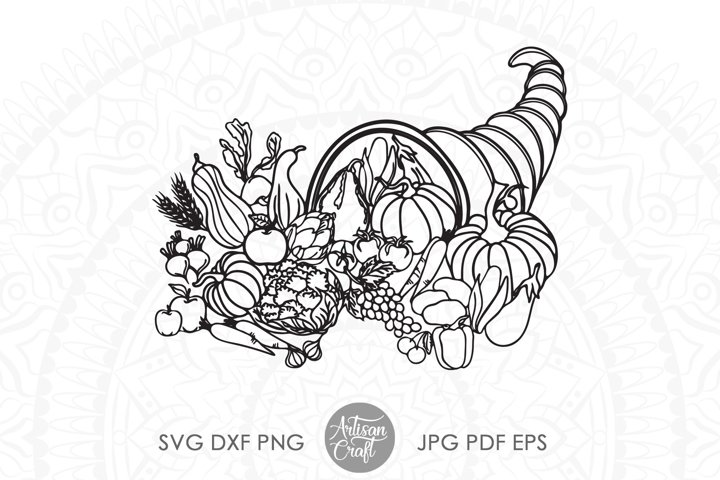 Thanksgiving cornucopia, SVG, sublimation designs, PNG