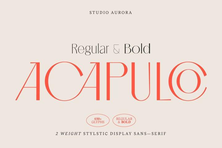 Acapulco Stylish Sophisticated Font