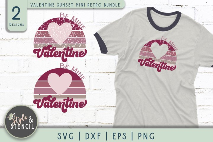 Valentine Be Mine Retro SVG - PNG, DXF, EPS, SVG, Cut File